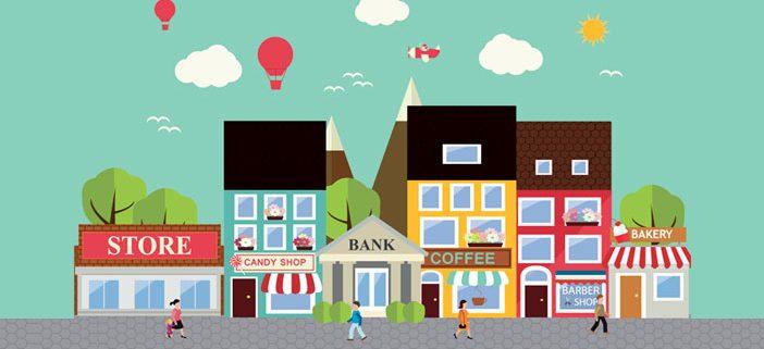 Virksomheder i mindre byer